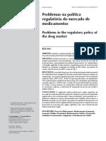 Problemas Na Política Regulatória Do Mercado de Medicamentos