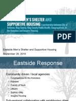 Eastgate Homeless Men's Shelter Presentation