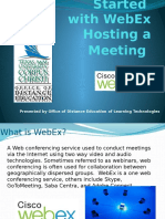 Hosting a Webex Meeting
