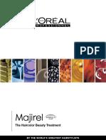 Majirel Paper Color Chart