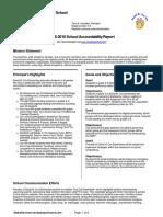 School Accountability Report
