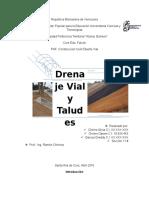 Trabajo de Diseño Vial (Drenajes y Taludes)
