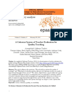 A Coherent System of Teacher Evaluation for Quality Teaching