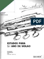ESTUDO PARA O 5º ANO DE VIOLÃO - ISAIAS SAVIO.pdf