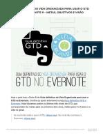 Guia Definitivo Do Vida Organizada Para Usar o GTD No Evernote – Parte 6 – Metas