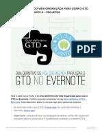 Guia Definitivo Do Vida Organizada Para Usar o GTD No Evernote – Parte 4 – Proje