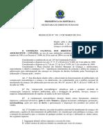 Resolução n.º 163, 13 de Março de 2014