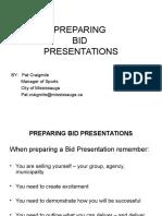 Bid Presentations