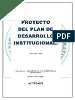 Proyecto Plan de Desarrollo Institucional 2012