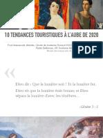 10 Tendances Tourisme Horizon 2020