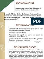 Bienes Vacantes, Mostrencos y Baldíos (2)