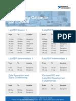 Training Calendar 08