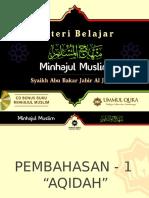 Minhajul Muslim - BAB I AQIDAH