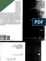 EVANS PRITCHARD, E. Las Teorías de La Religión Primitiva