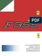 Ferrari F355 Owner Maintenance Manual