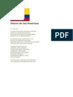 Himno de Las Américas