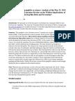 Analysis of AVMA Pamphlet