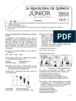 ProvaOBQ Junior 2014