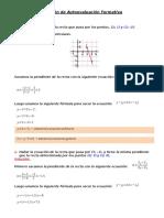 Solución de Autoevaluación Formativa - La Recta..docx