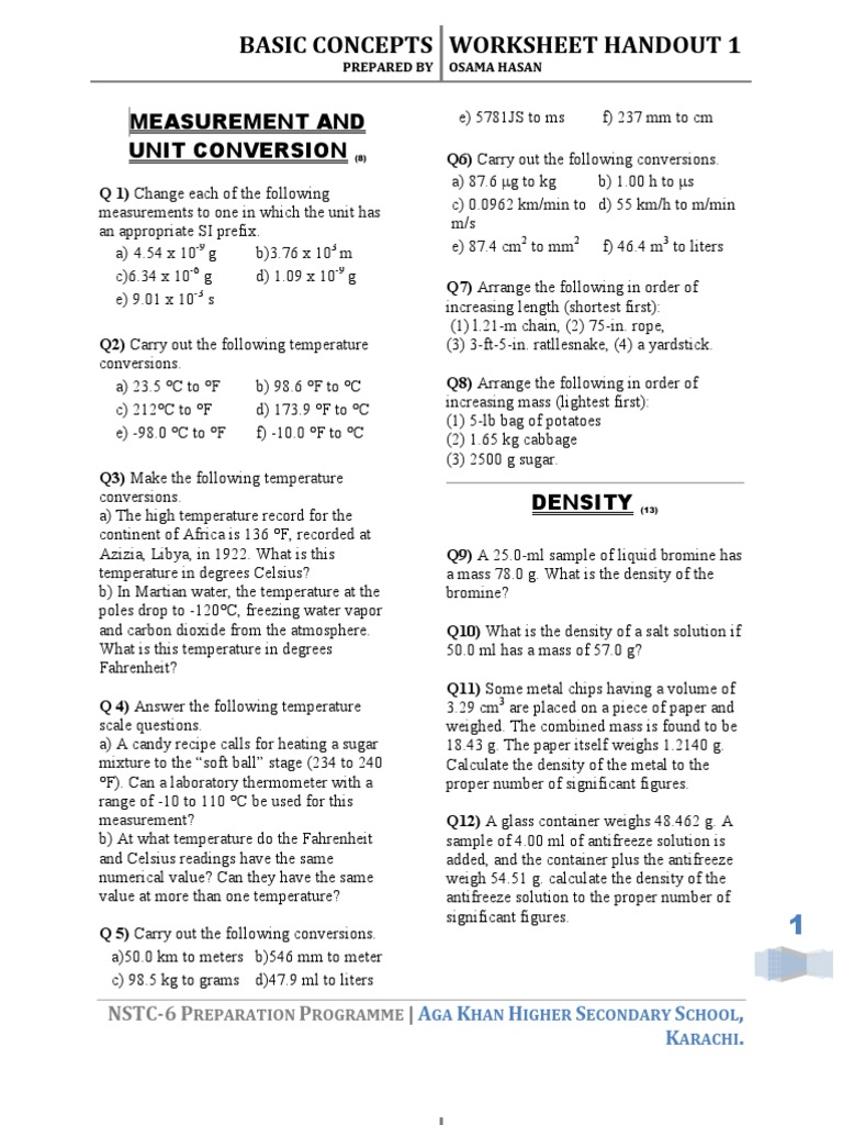 Worksheets The Mole And Volume Worksheet chemistry worksheets handouts atomic orbital fahrenheit