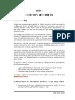 Cortes y Secciones (Dibujo Mecanico)