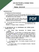 8. La Importancia Del Perd n y Unidad Entre Cristianos