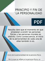 Principio y Fin de La Personalidad