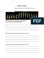 body in motion worksheet