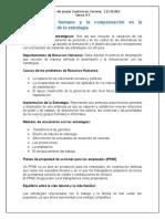 3.5 El Factor Humano y La Compensación en La Implementación de La Estrategia