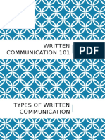Written Communication 101