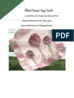 Ruffled Flower Rag Quilt Pattern