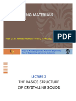 Engineering Materials 2015_basic Structures of Crystalline Solids