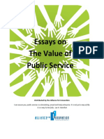 Value of Public Service Essays
