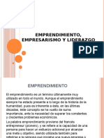 Emprendimiento, Empresarismo y Liderazgo