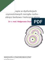 Fizjoterapia w Dysfunkcjach Narzadu Ruchu Obrecz Barkowa i Konczyna Gorna