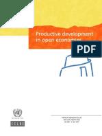 Productive Development in Open Economies