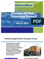 Glossary of Auto Transport Terms
