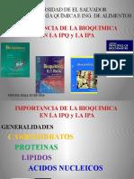 Importancia de La Bioquimica en Ipq-2016