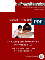 Module i i i Analysing and Interpreting Information 2