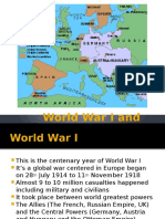 World War I and Causes