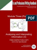 Module i i i Analysing and Interpreting Information 3