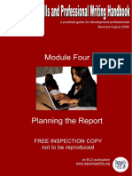 Module IV Planning the Report