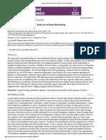 Application of Genomics Tools to Animal Breeding