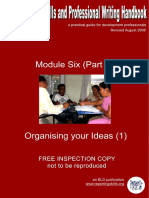 ModuleVIPart1OrganisingyourIdeas1