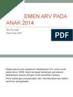 Manajemen ARV Pada Anak 2014
