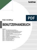 Fax 1010 Plus Benutzerhandbuch