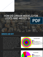 Urban Model Comparaison Between MEDC and LEDC