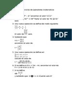 Ejercicios de Operadores Matemáticos