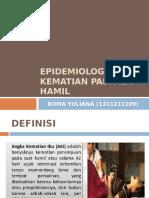 Epidemiologi Gizi Kematian Pada Ibu Hamil