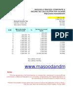 Pakistan Salary Income Tax Calculator Tax Year 2016 2017